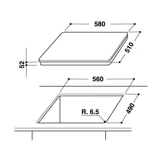 Piano cottura ad induzione Hotpoint Ariston   Scheda Tecnica